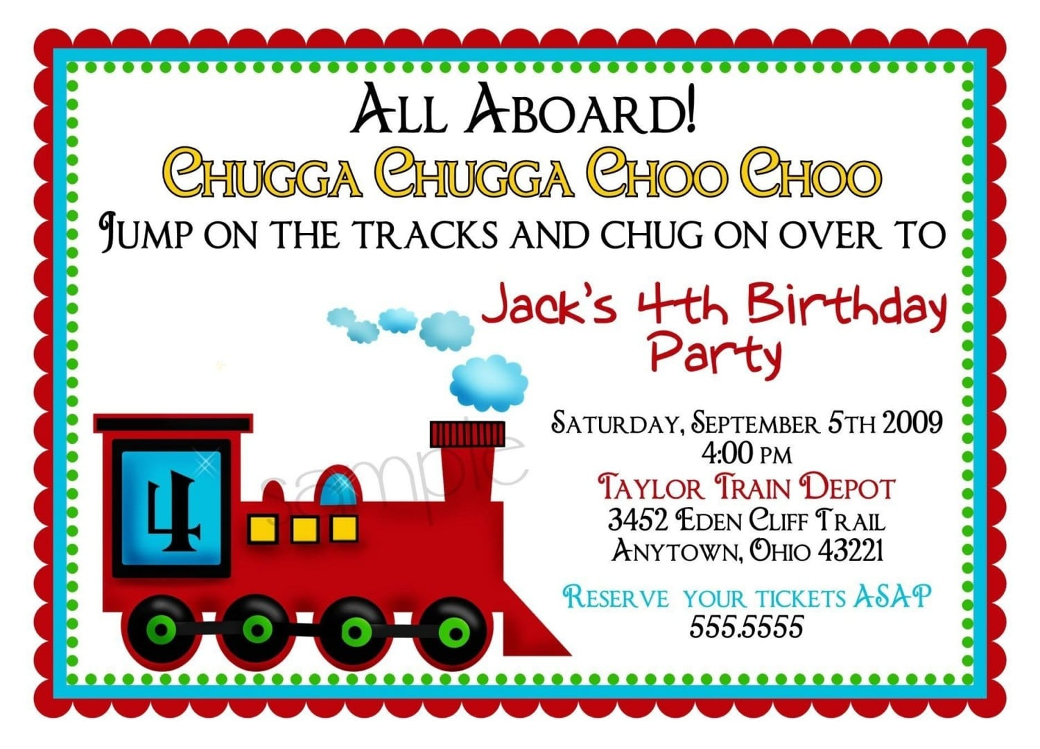 Train Party Invitation Template - Mickey Mouse Invitations Templates