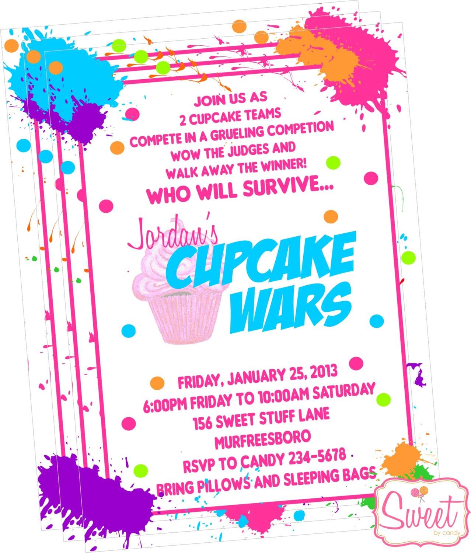 Cupcake Wars Baking Party Invitation Diy Printable