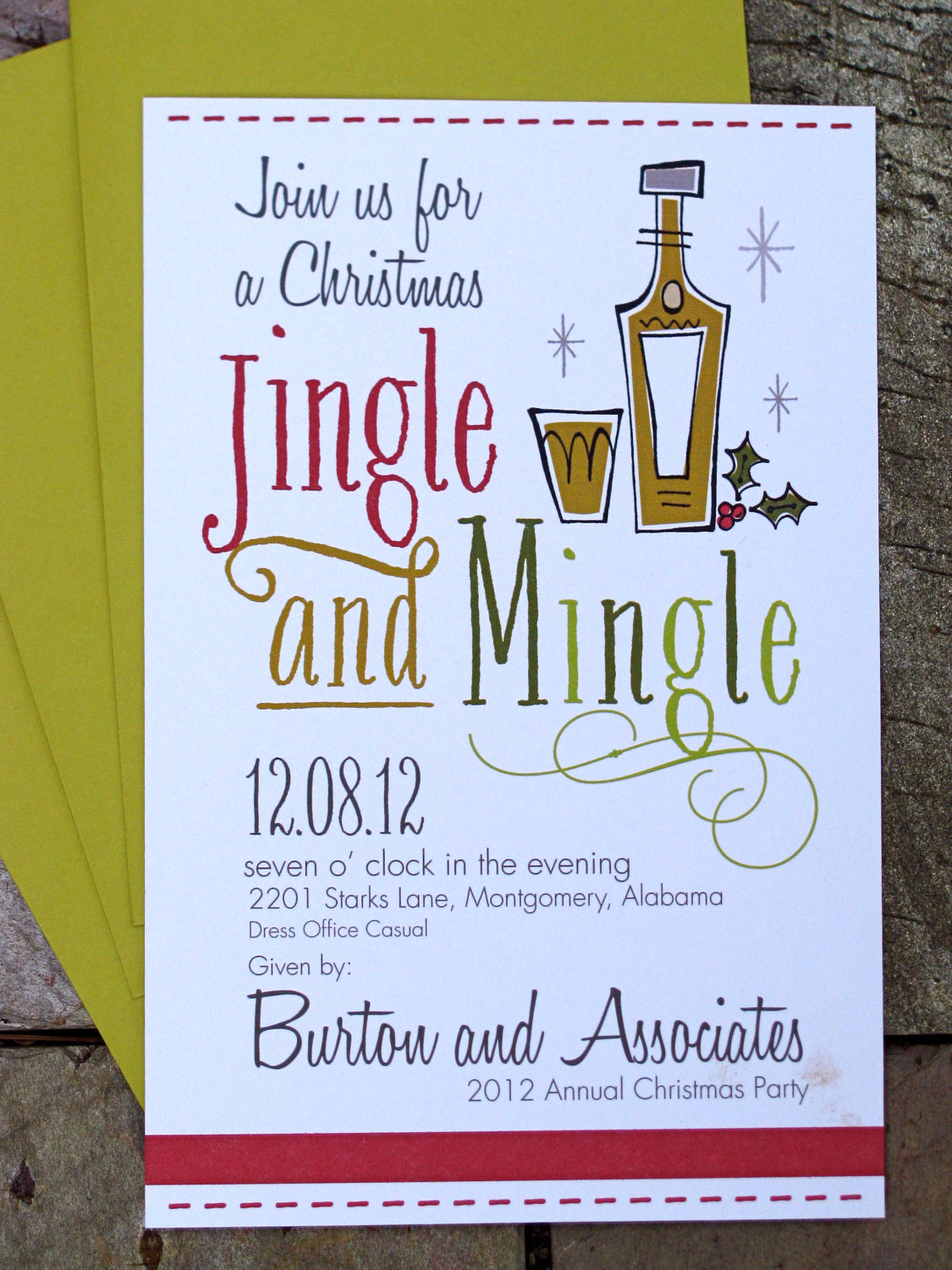 Personalized Christmas Party Invitations - Mickey Mouse ...