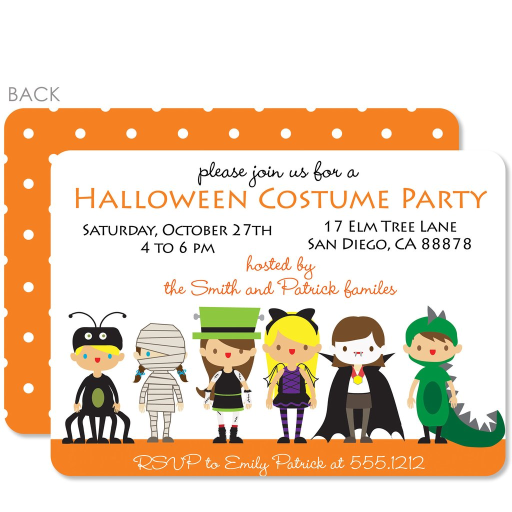 Custom Halloween Party Invitations