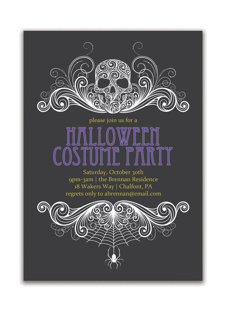 Custom Halloween Party Invitations Fabulous Custom Halloween Party