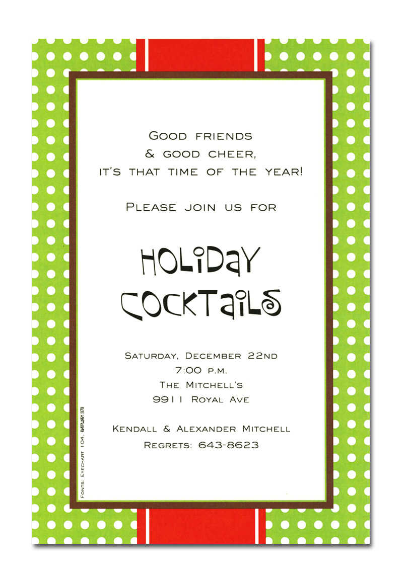 Holiday Cocktail Party Invitation Wording Mickey Mouse Invitations Templates