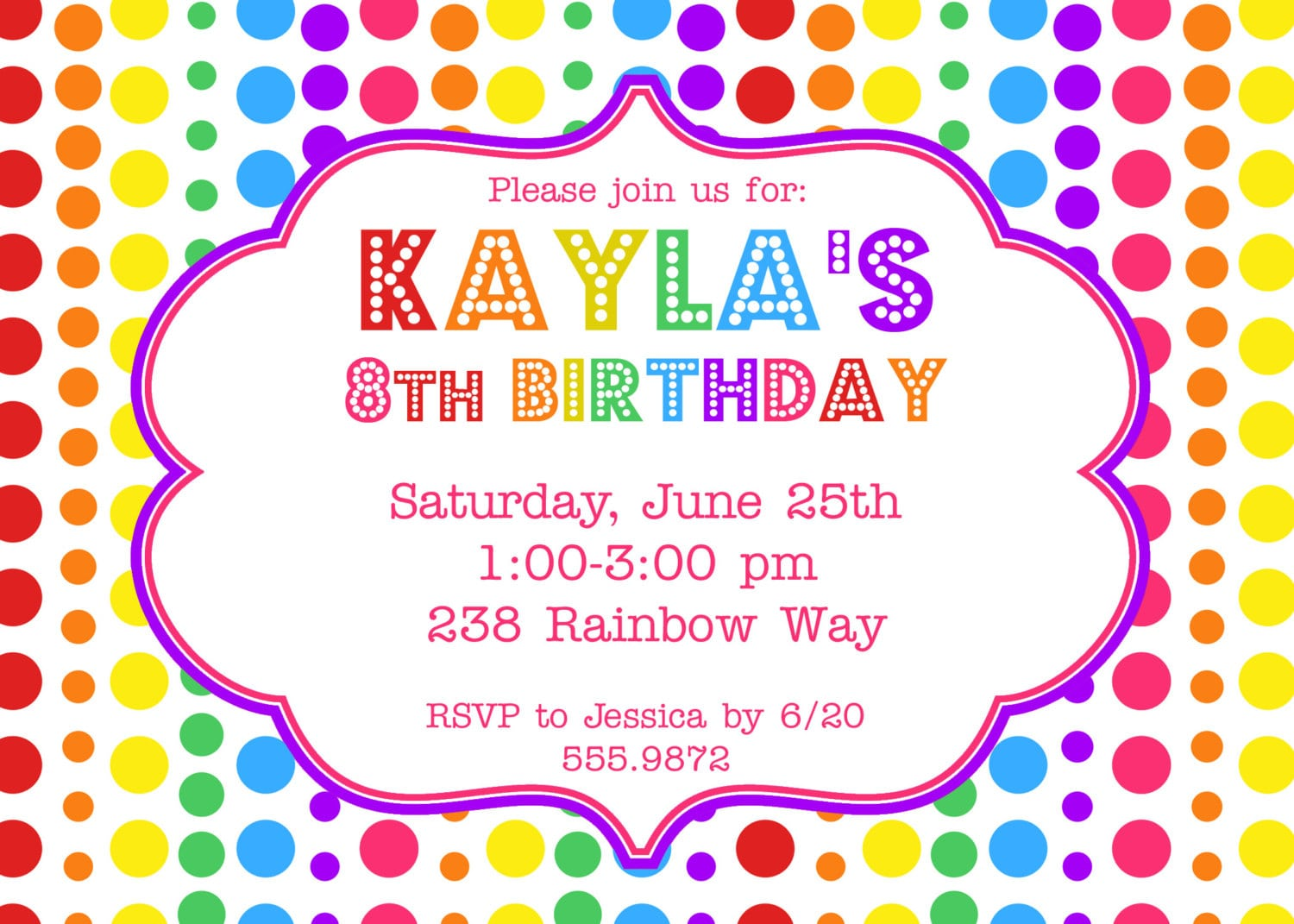 Cute Birthday Party Invitations Amazing Cute Birthday Party