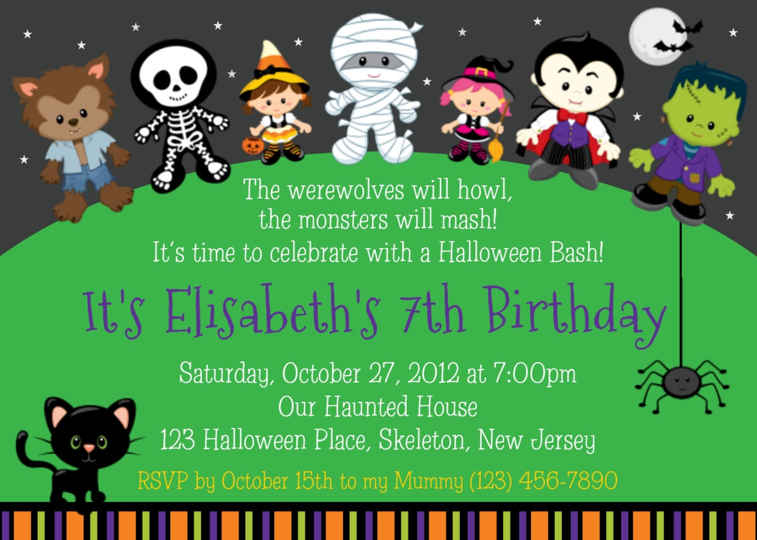 Cute Halloween Party Invitations Fabulous Cute Halloween Party