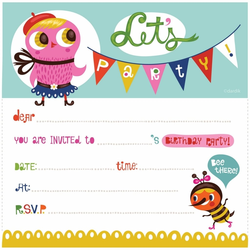 Cute Party Invitations Free Printable Owl Birthday Party
