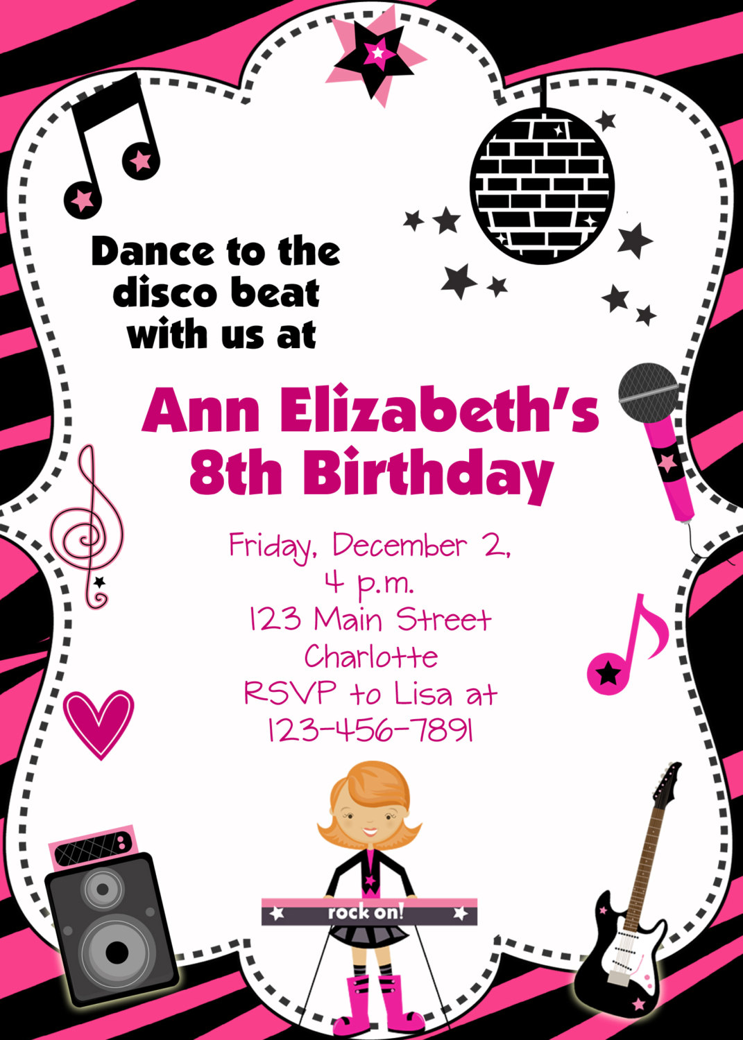 dance party birthday invitations - Vaydile.euforic.co