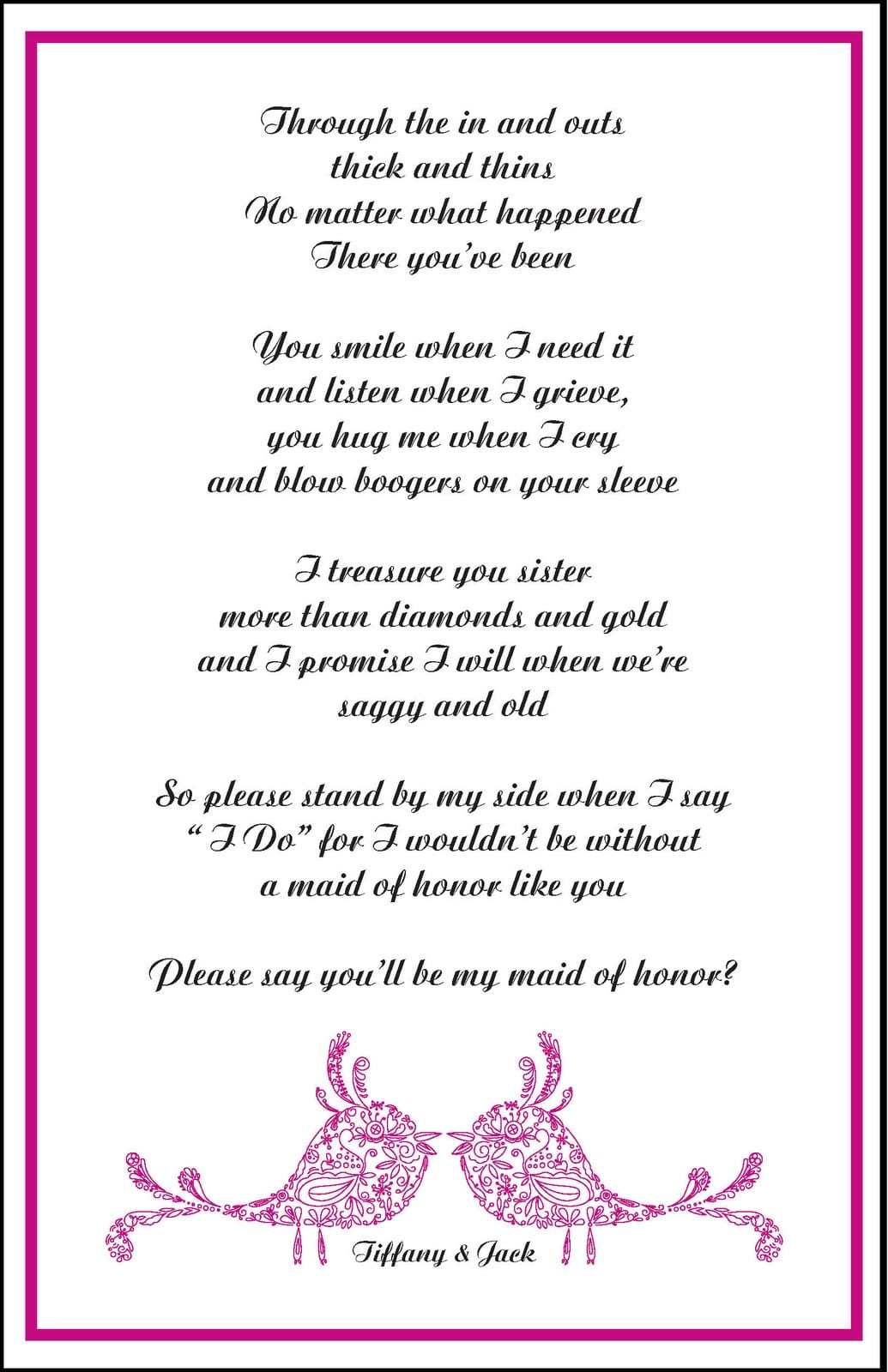 Design Party Invitations Will You Be A Bridesmaid 1035x1600