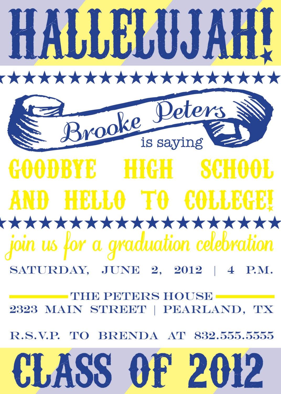 Designs Graduation Party Invitations Wording Verses Graduation