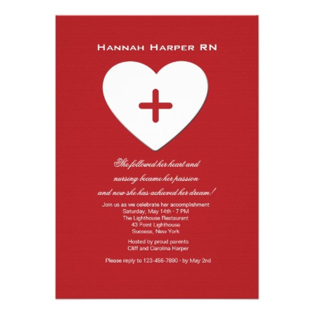 Nursing School Graduation Party Invitations