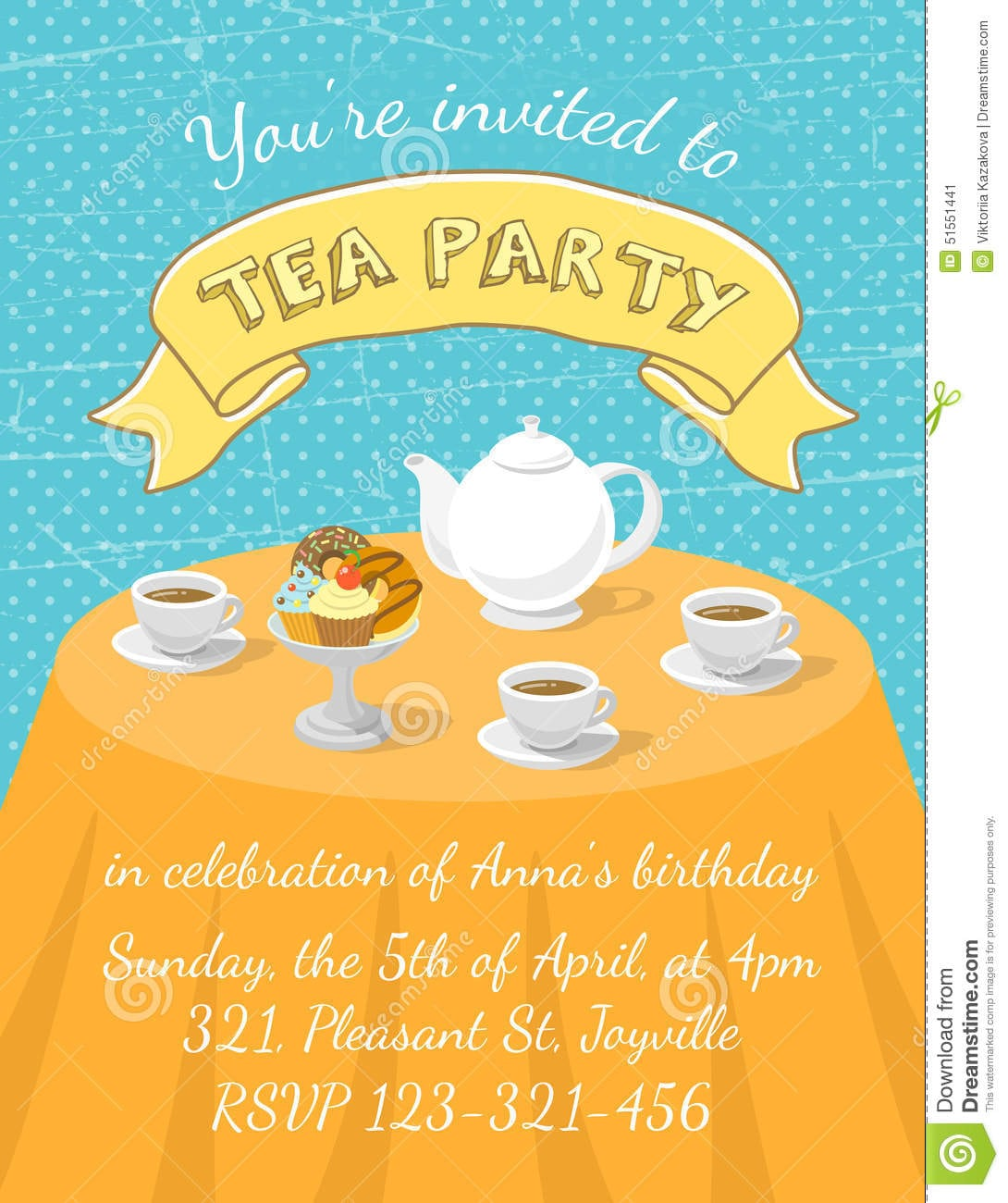 Dessert Party Invitations