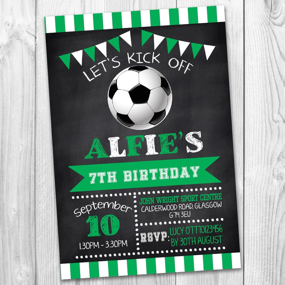 Details About Boys Girls Football Sport Personalised Party