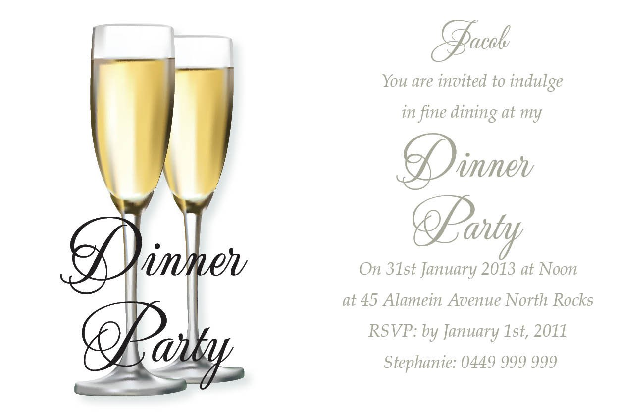 Dinner Party Invitation Templates Free free sample of letter of intent