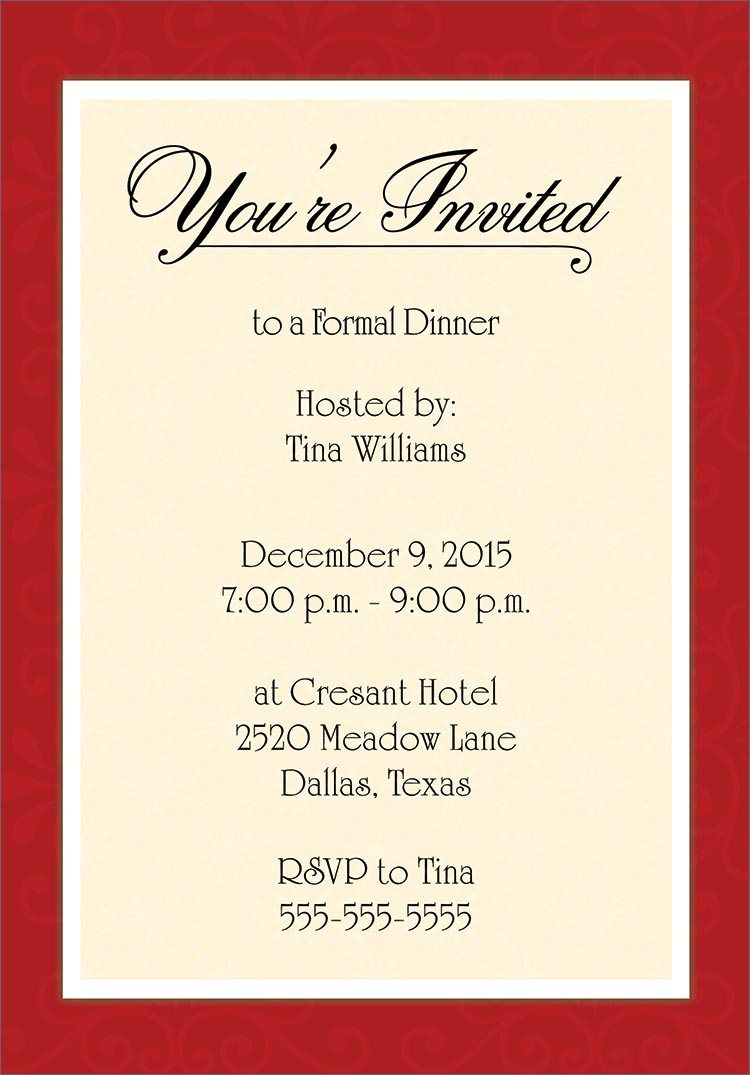 Dinner Party Invitation Template Word  Office Holiday Party
