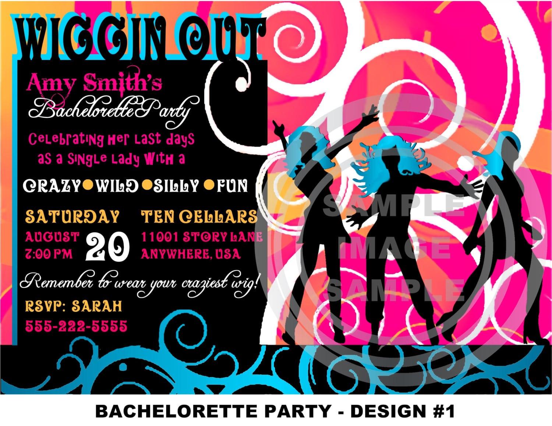 Disco Invitation Sleep Over Birthday Party Invitation