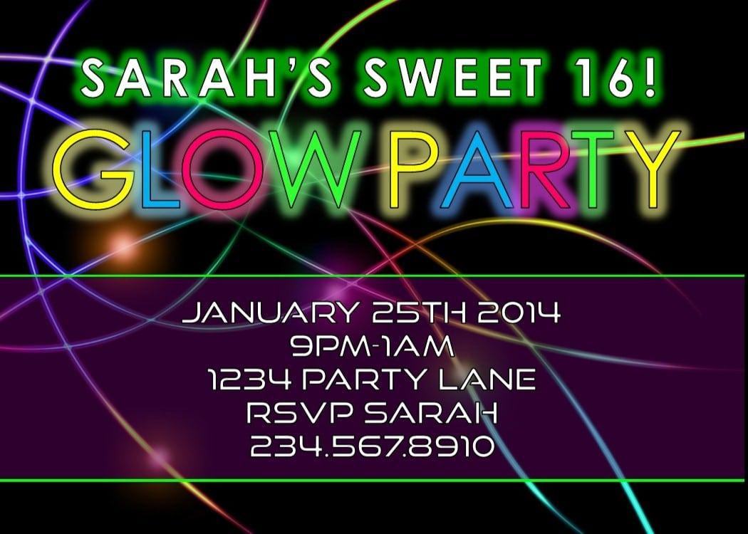 Glow party invitation wording mickey mouse invitations templates disco party invitation wording stopboris Gallery