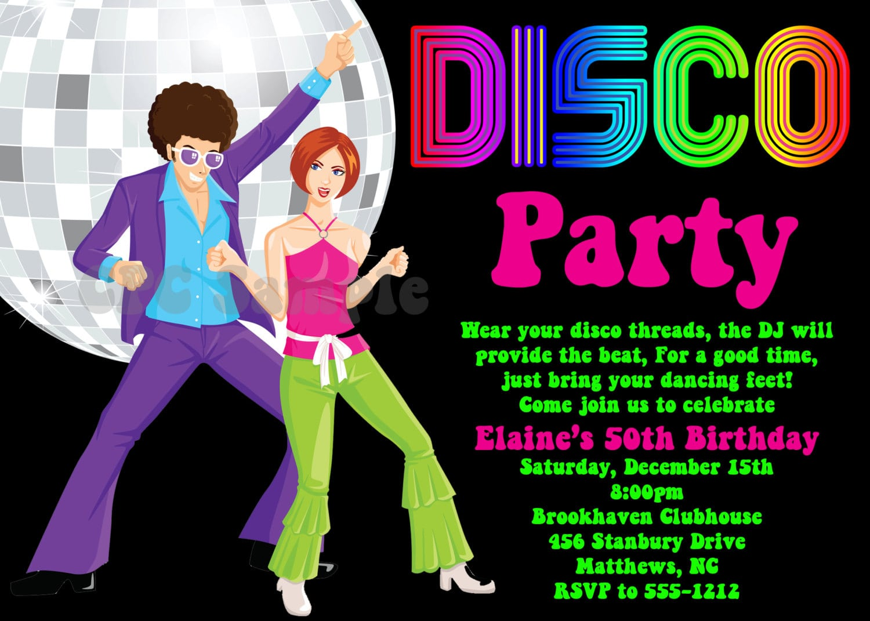Disco Party Invitations