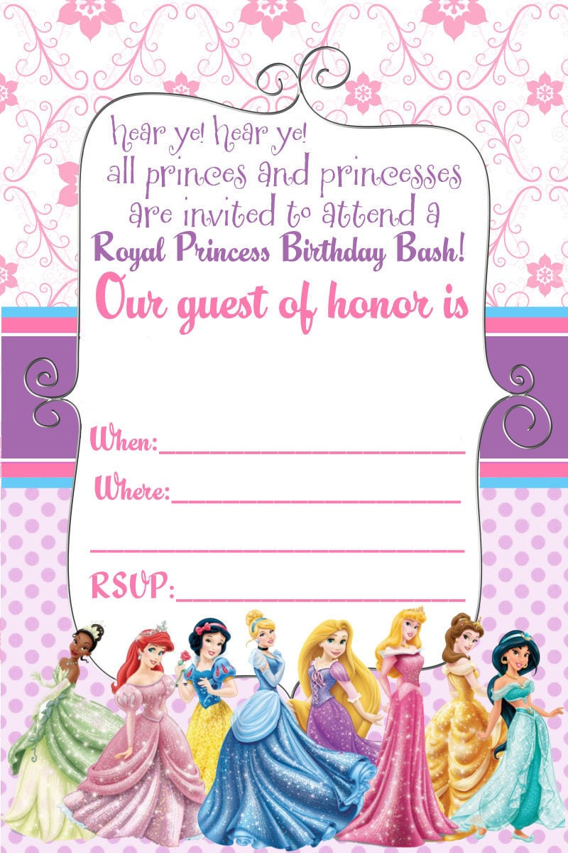 Diy Disney Princess Party