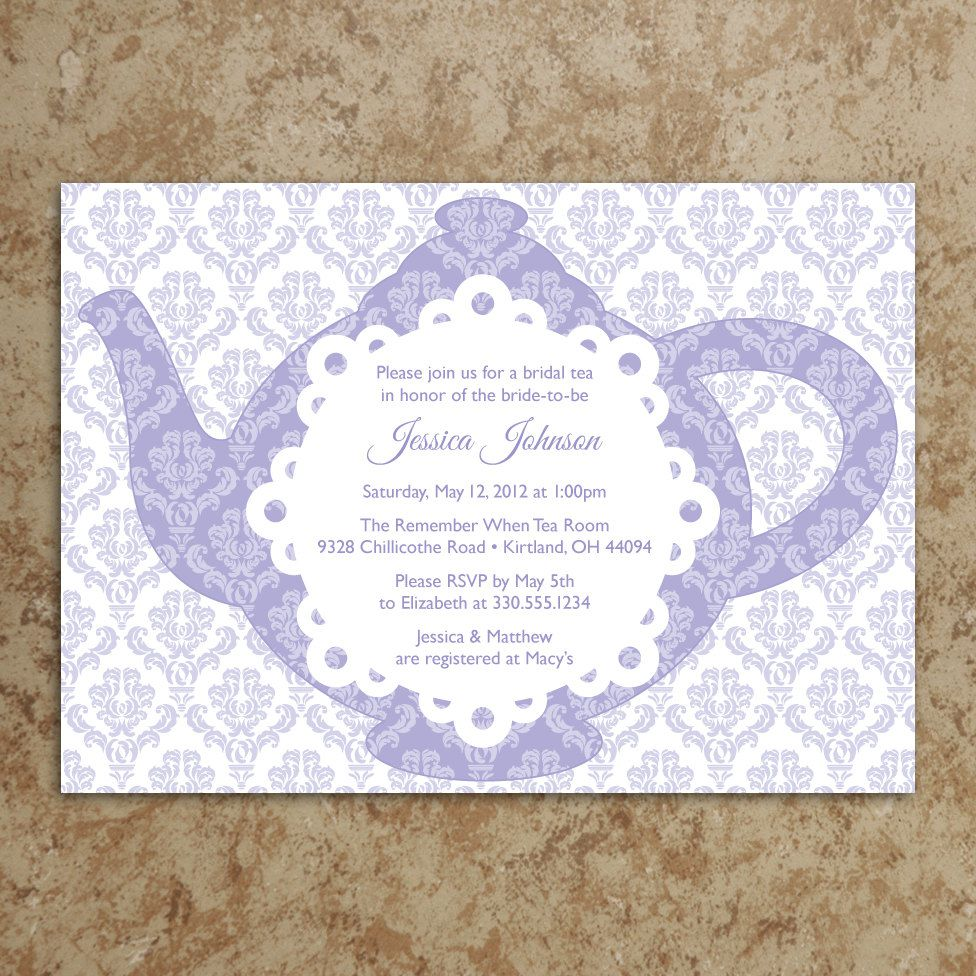 Bridal Shower Tea Party Invitation Wording - Mickey Mouse ...