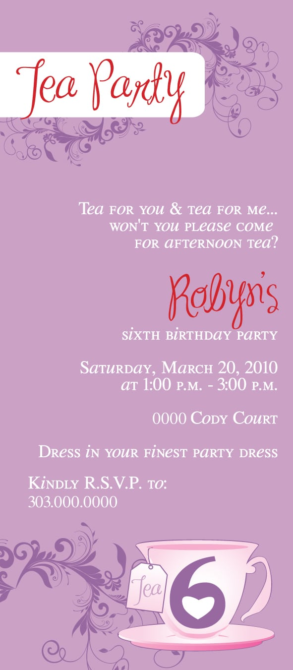 Doc  488733  Mother Daughter Tea Party Invitations – Items Similar