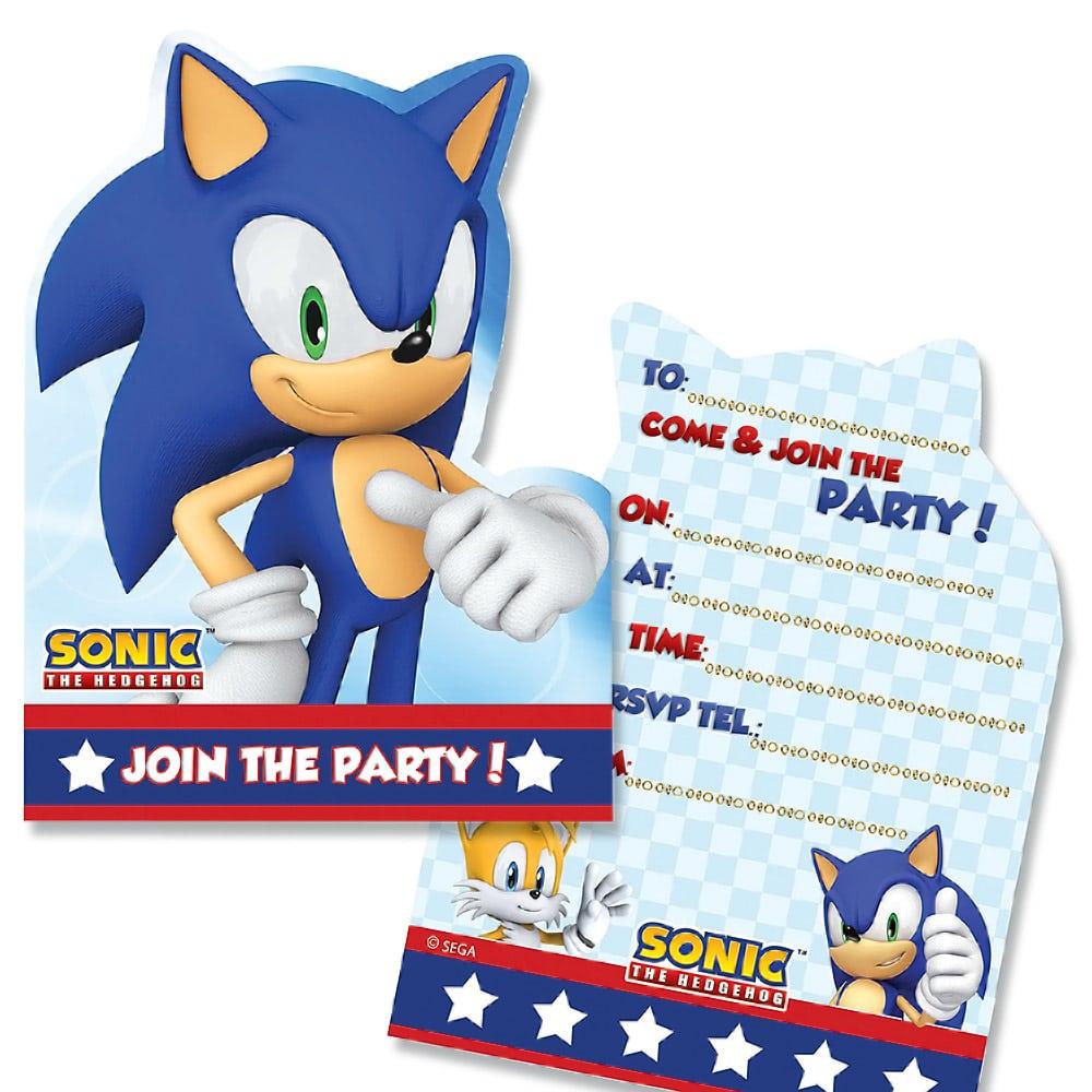 Doc  504360  Sonic Birthday Invitations – Sonic The Hedgehog