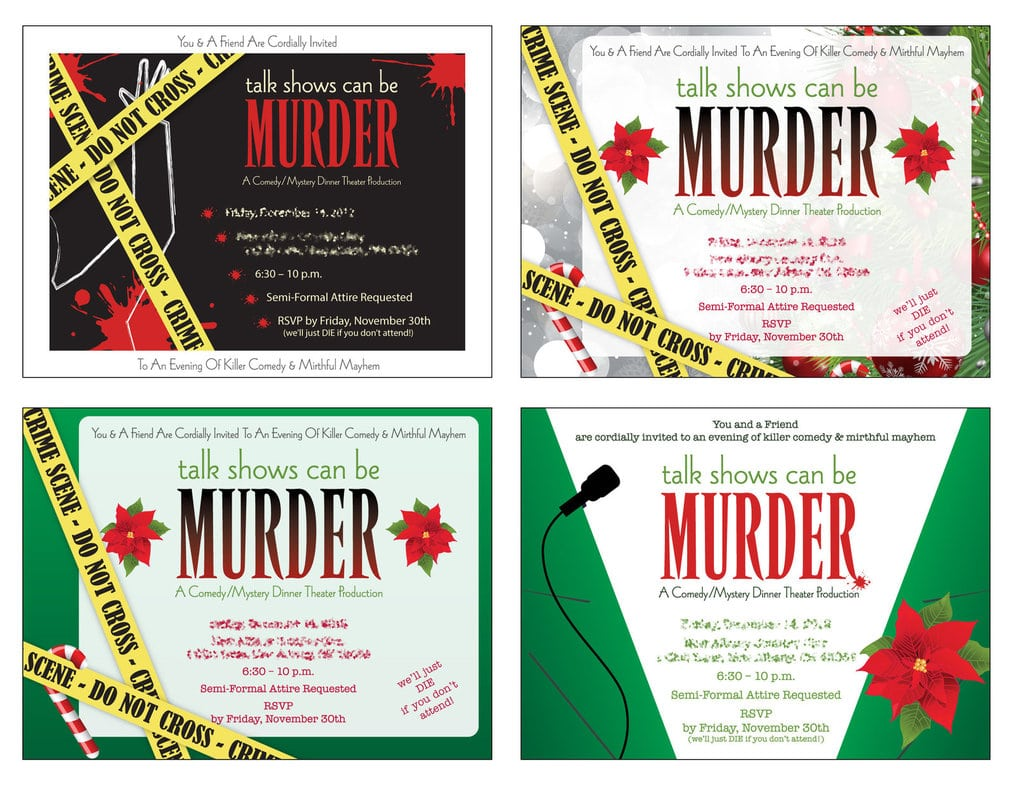 Doc  525725  Murder Mystery Party Invitations – 17 Best Ideas