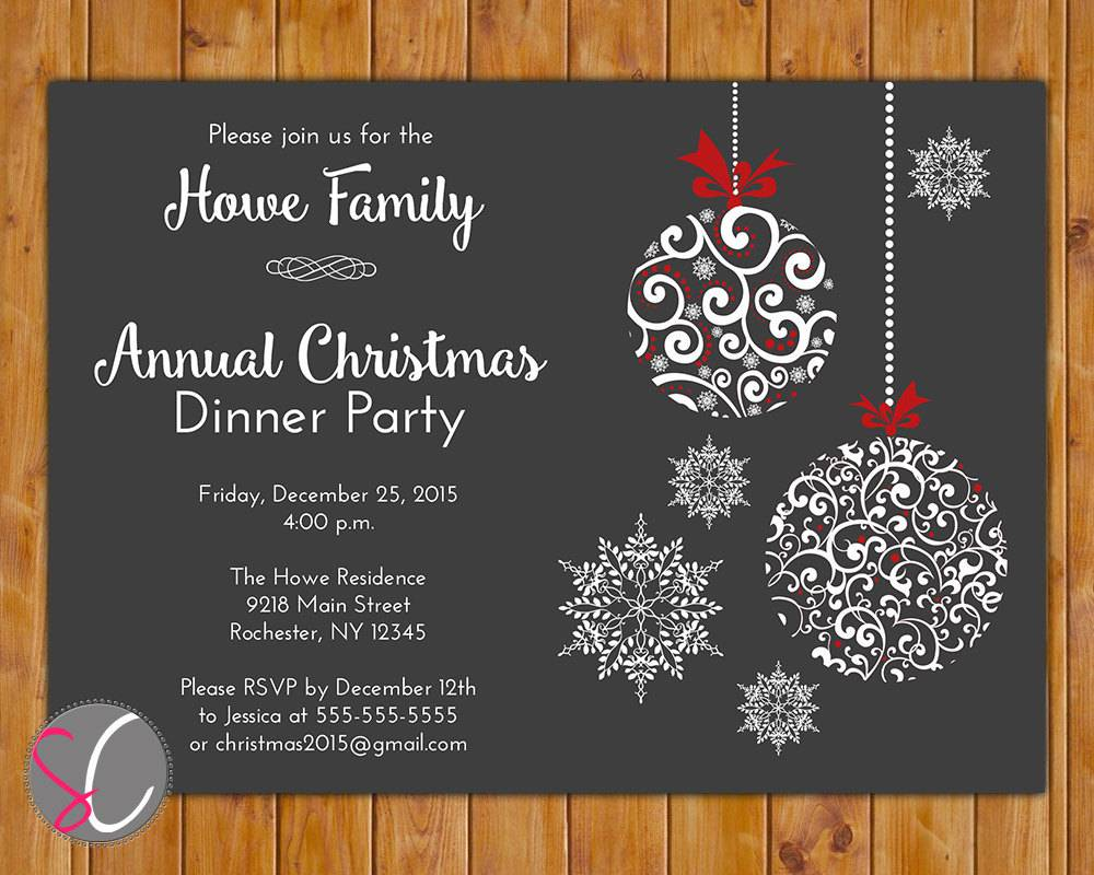 Doc  635635  Christmas Dinner Invitation Template Free – 1000