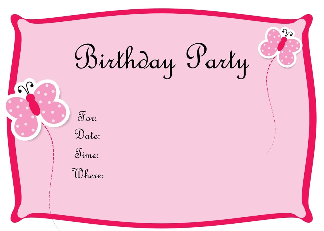 Doc  800800  Download Birthday Party Invitations – Birthday Party