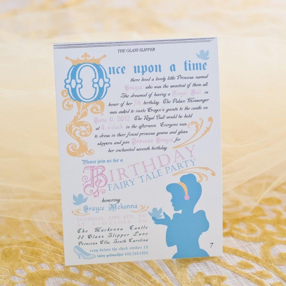 Doc  900900  Fairytale Party Invitations – Fairytale Princess