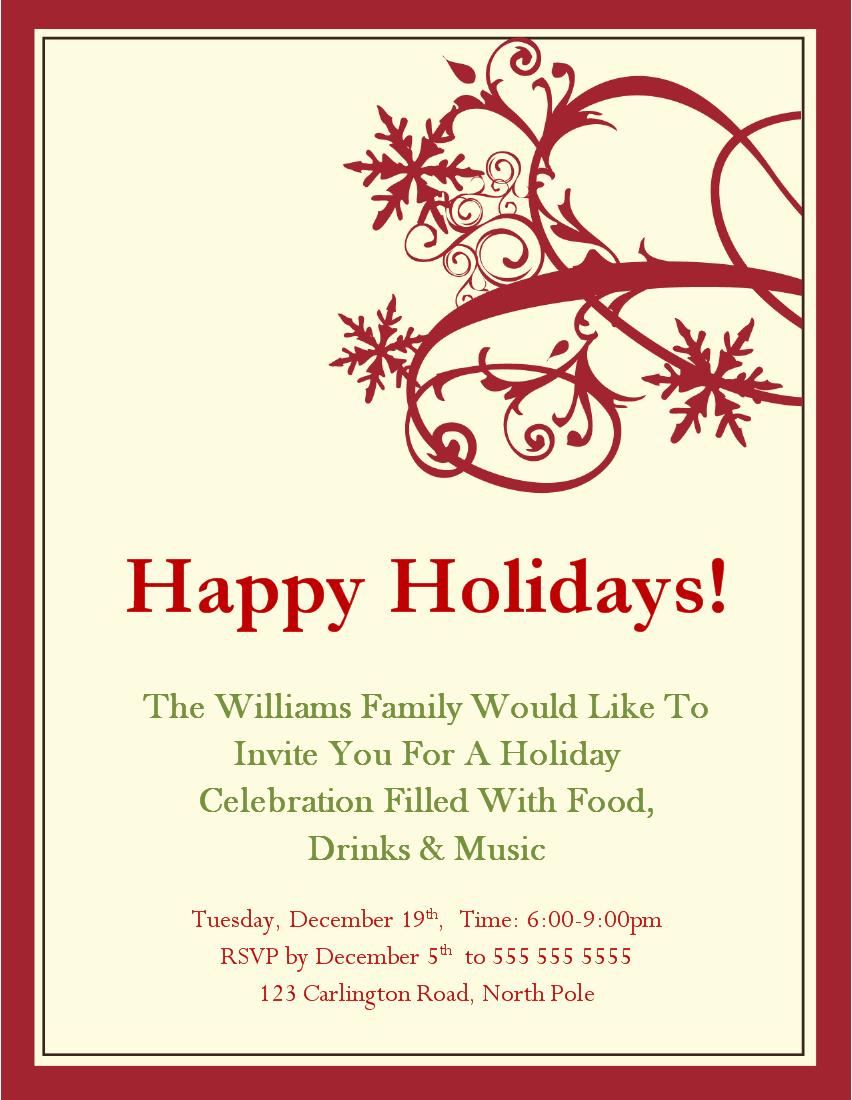Doc    Christmas Card Invitations – Christmas Party Invitations