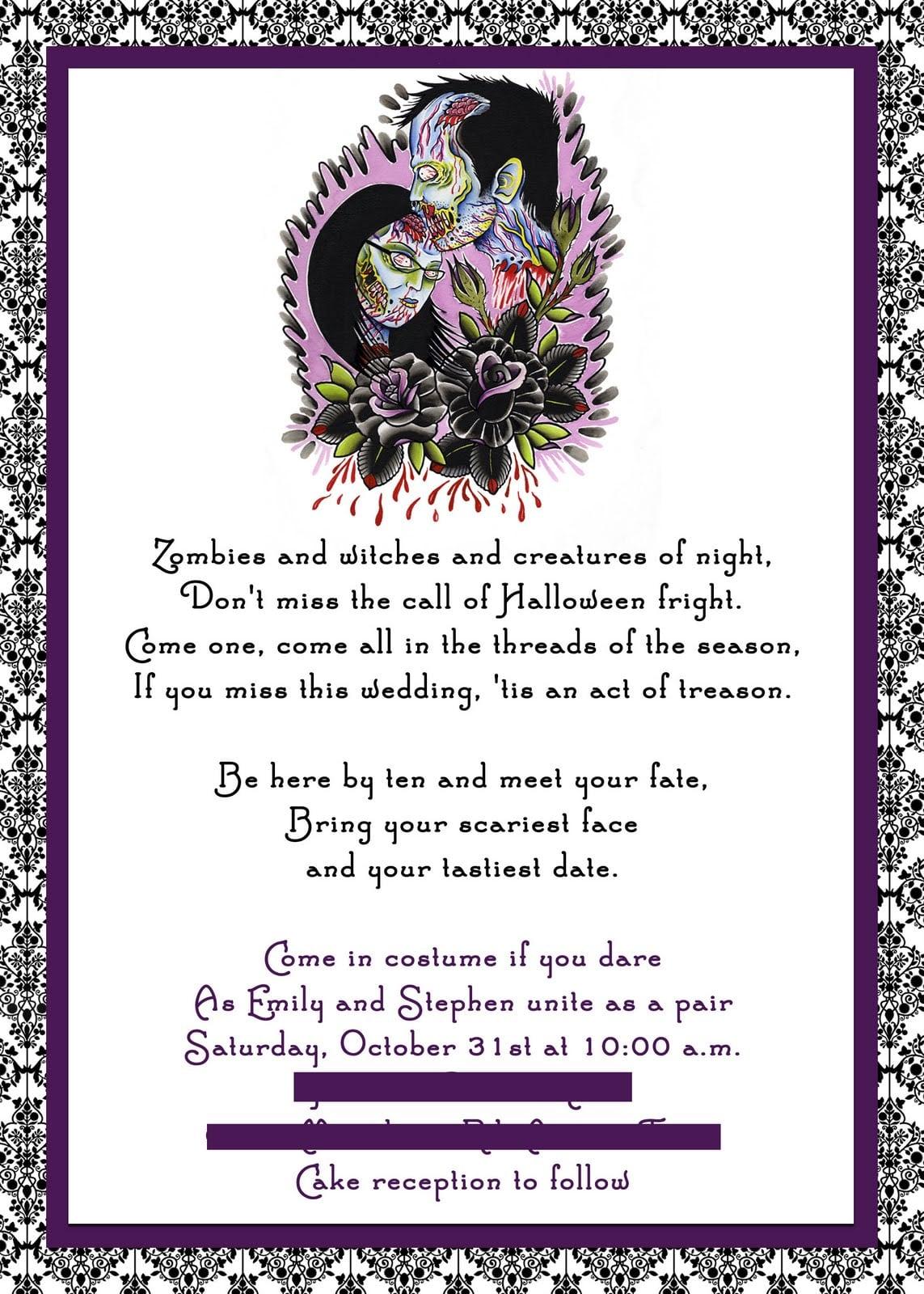 Doc    Halloween Party Invitation Wording Ideas – Halloween Party
