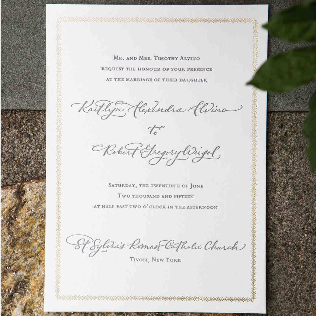 Does The Wedding Party Get Invitations