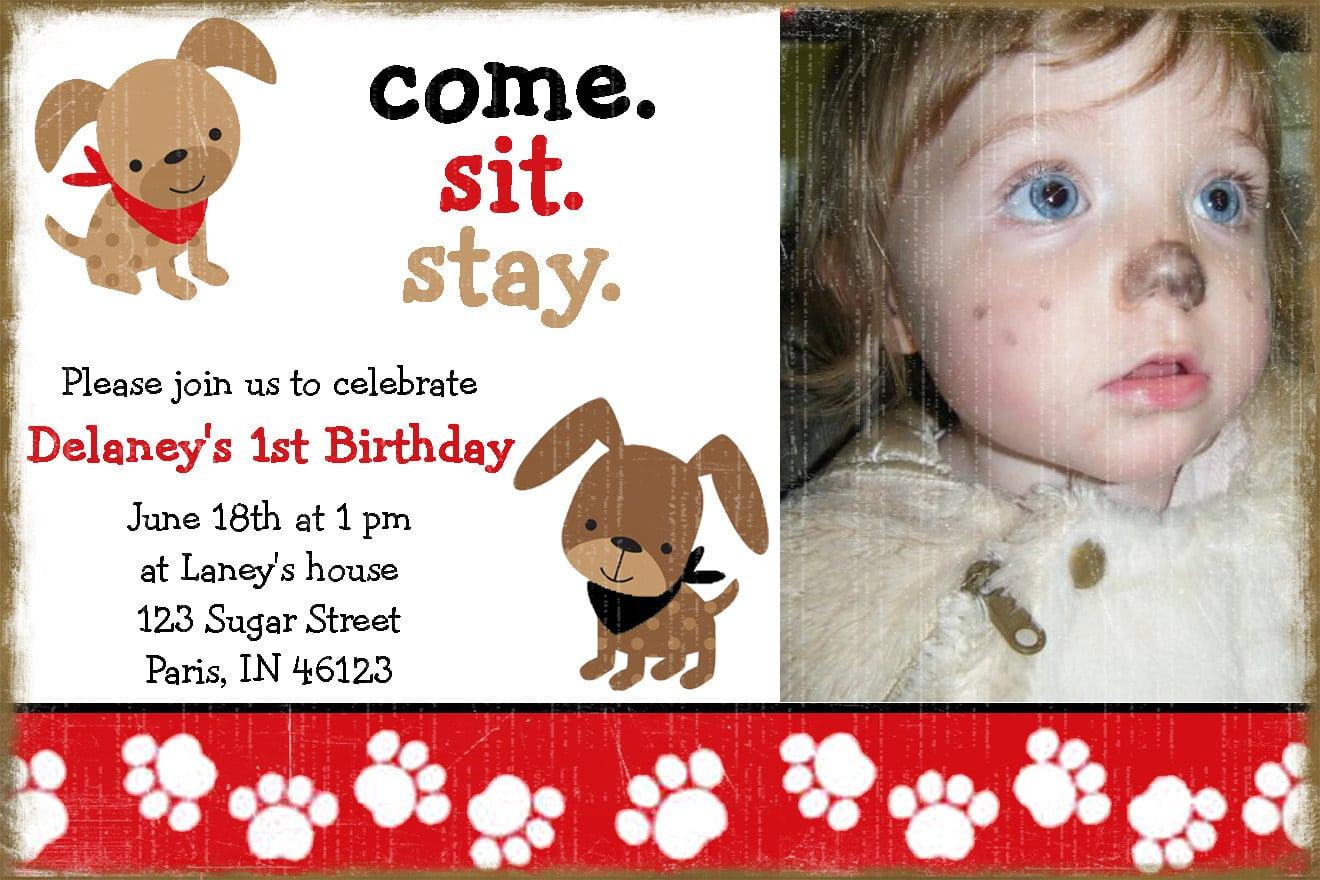 Dog Themed Birthday Party Invitations Mickey Mouse Invitations – Dog Themed Birthday Party Invitations