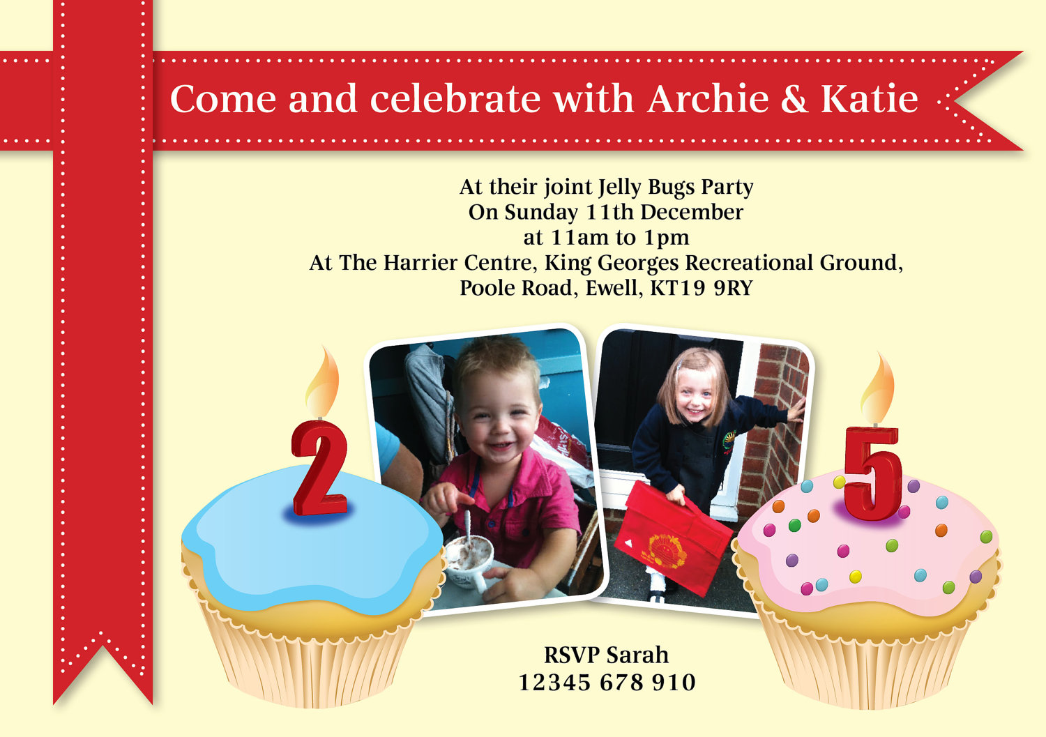 Double Birthday Party Invitations Stunning Double Birthday Party