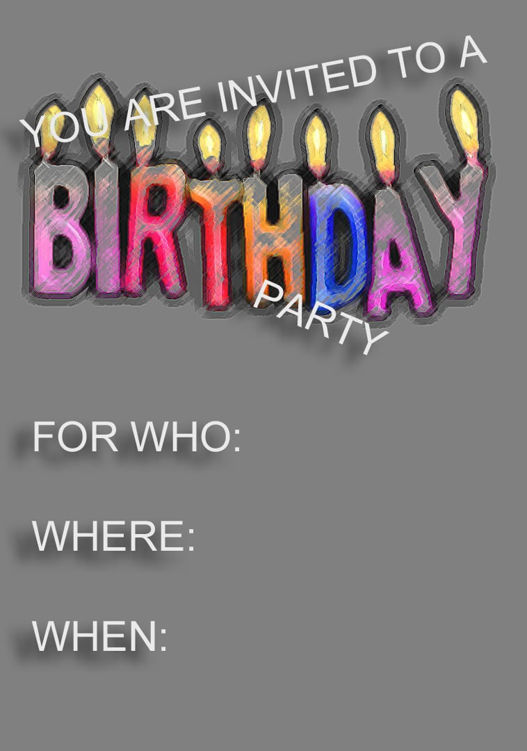 Downloadable Birthday Invitations