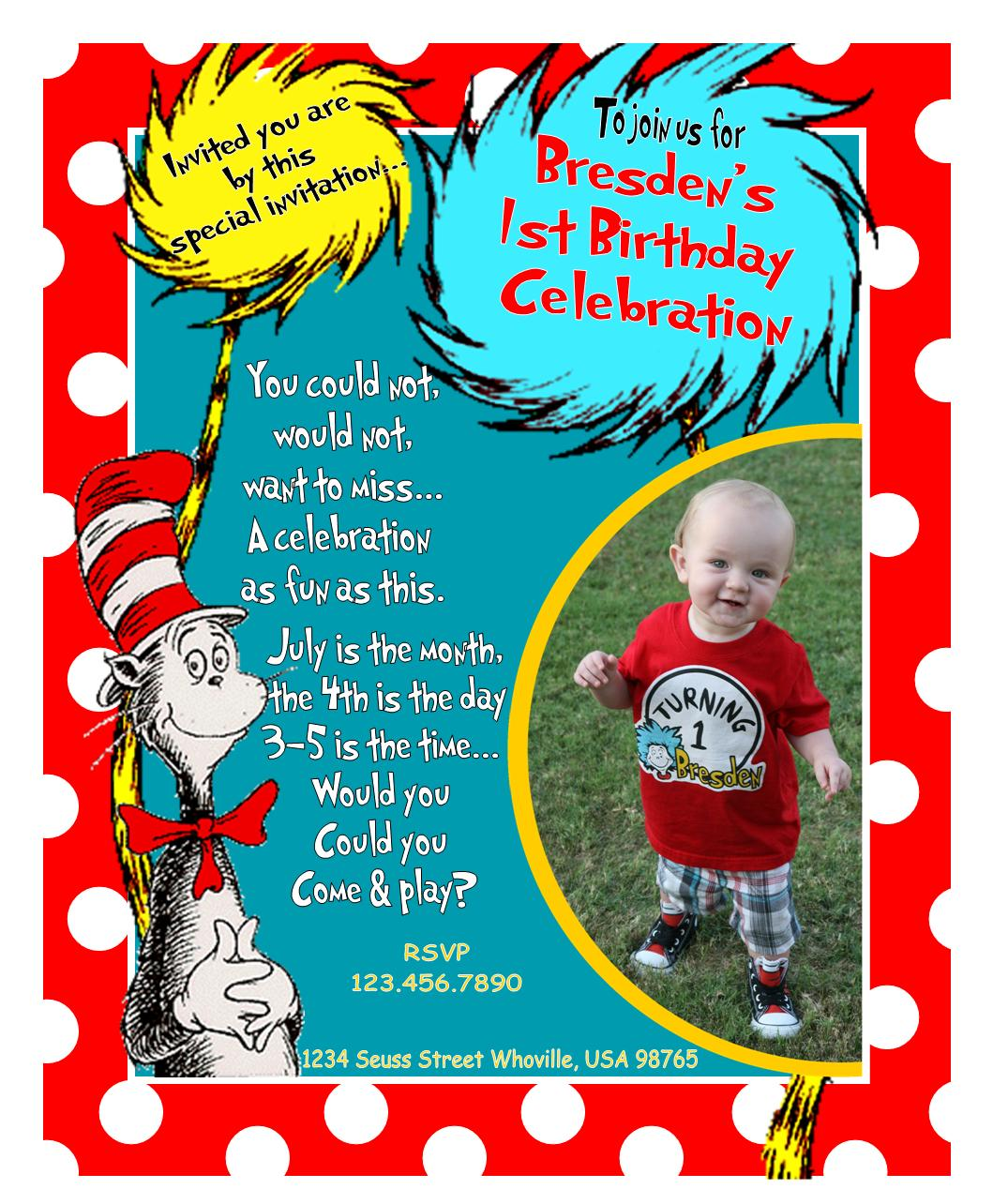 Dr Seuss 1st Birthday Ideas