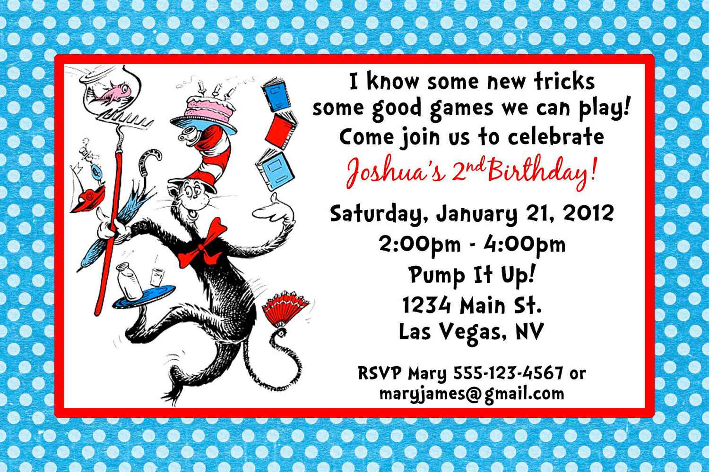 Dr Seuss 1st Birthday Invitations – Gangcraft Net