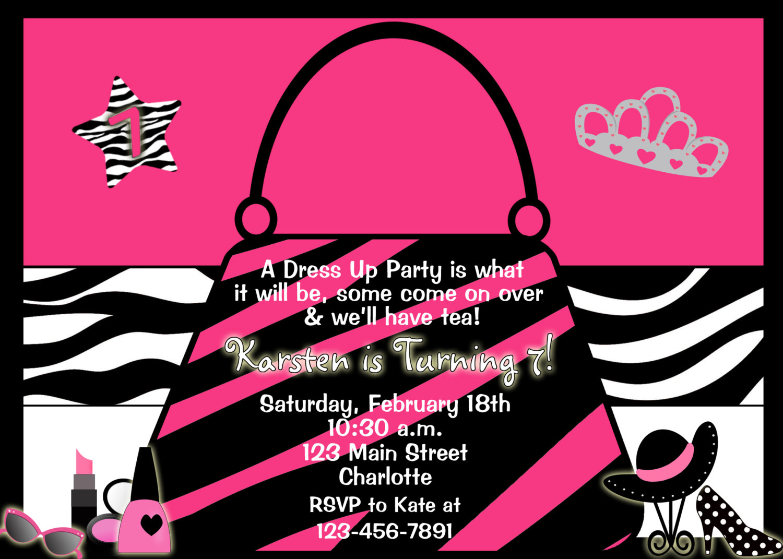 Dress Up Party Birthday Invitation