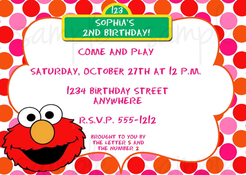 Elmo Birthday Invitations – Gangcraft Net