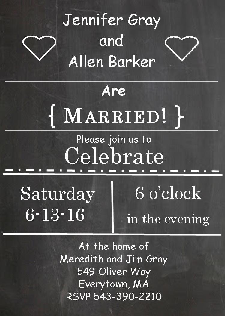 Elopement Party Invitations