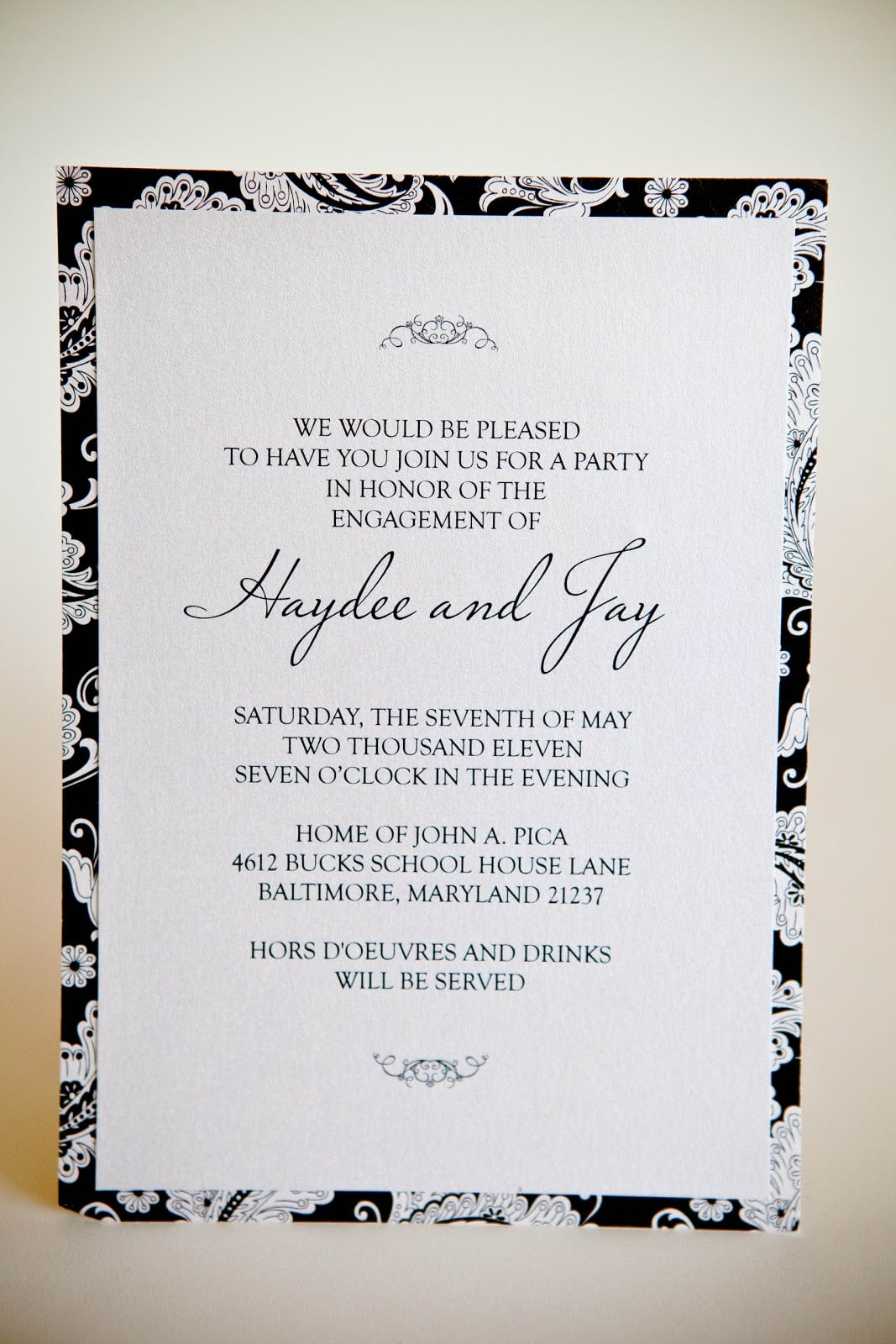 Engagement Party • Custom Invitations Baltimore Kindly Rsvp