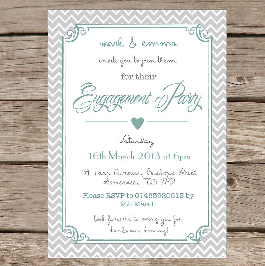 Engagement Party   Custom Engagement Party Invitations