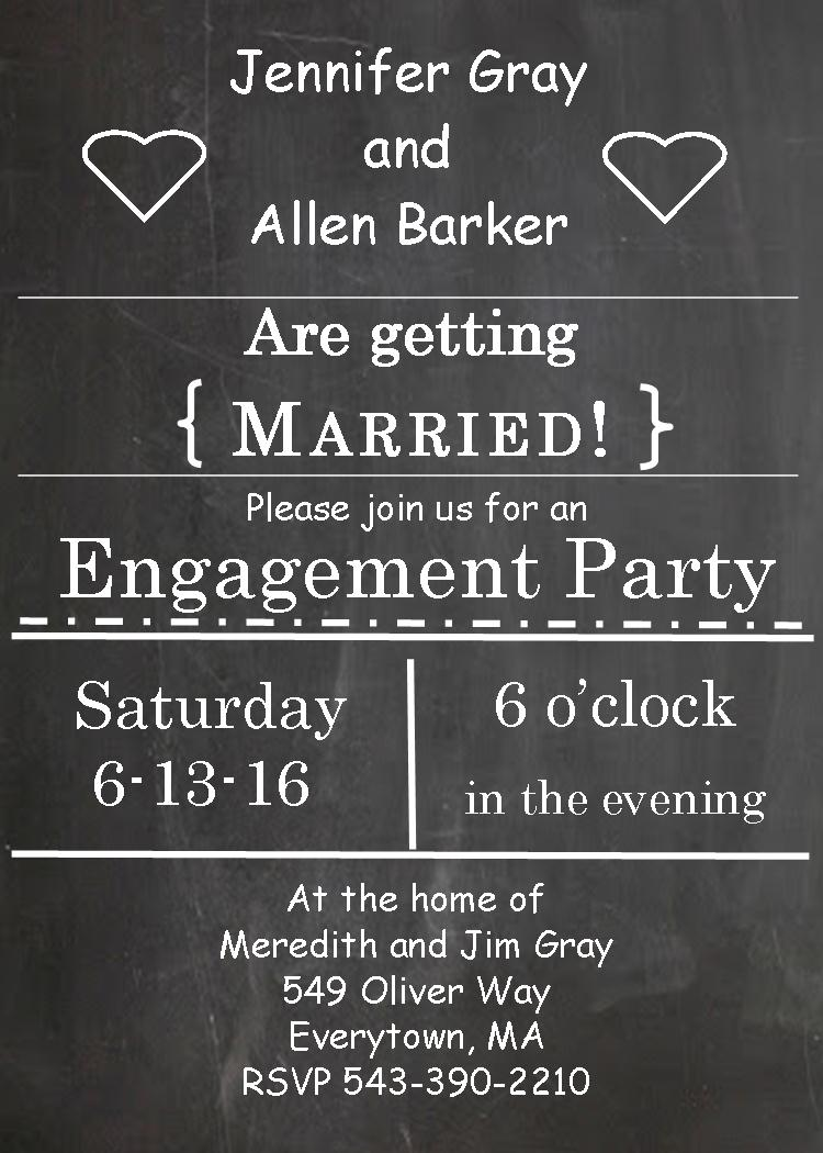 Engagement Party Invitation   Engagement Party Invitations Packs