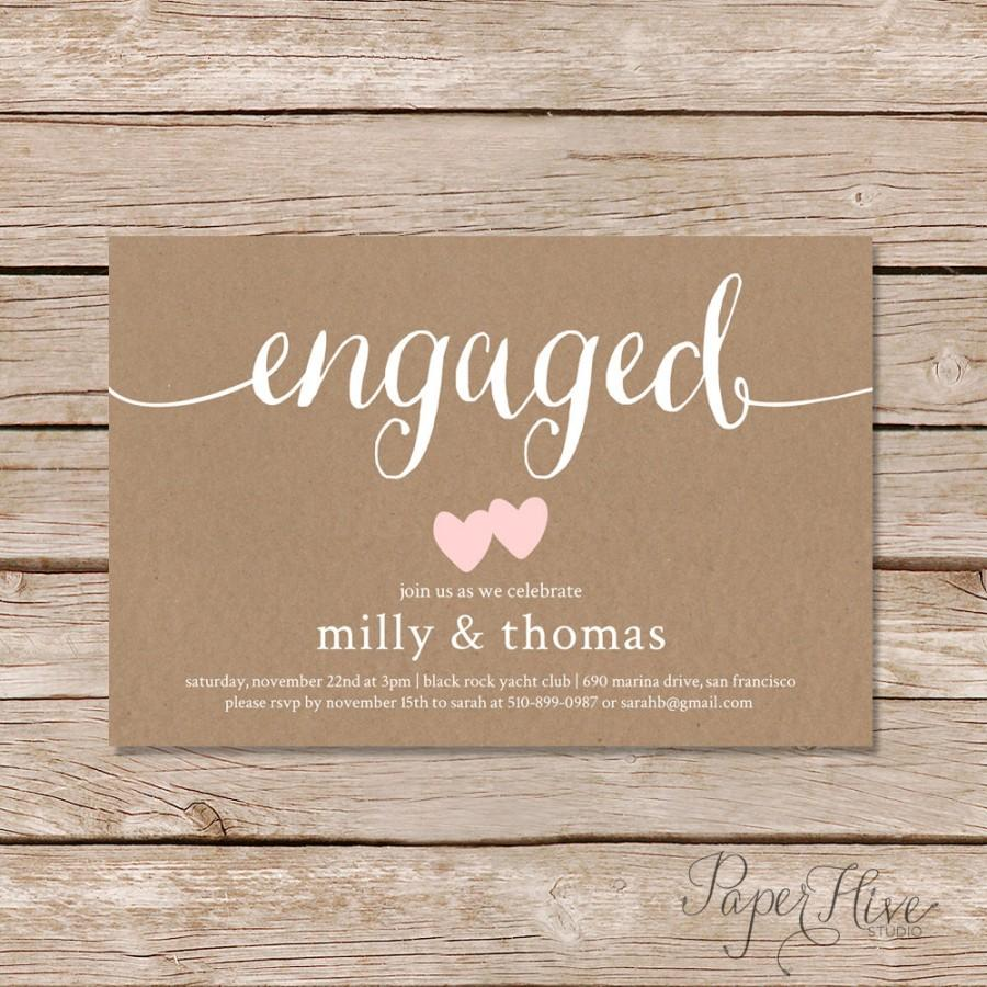 Engagement Party Invitation   Rustic Couples Shower Invitation