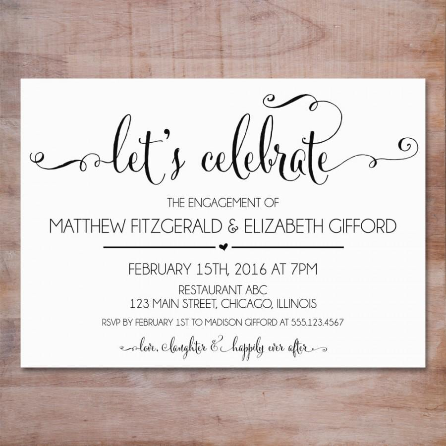 Engagement Party Invitation, We're Engaged Invitation Editable