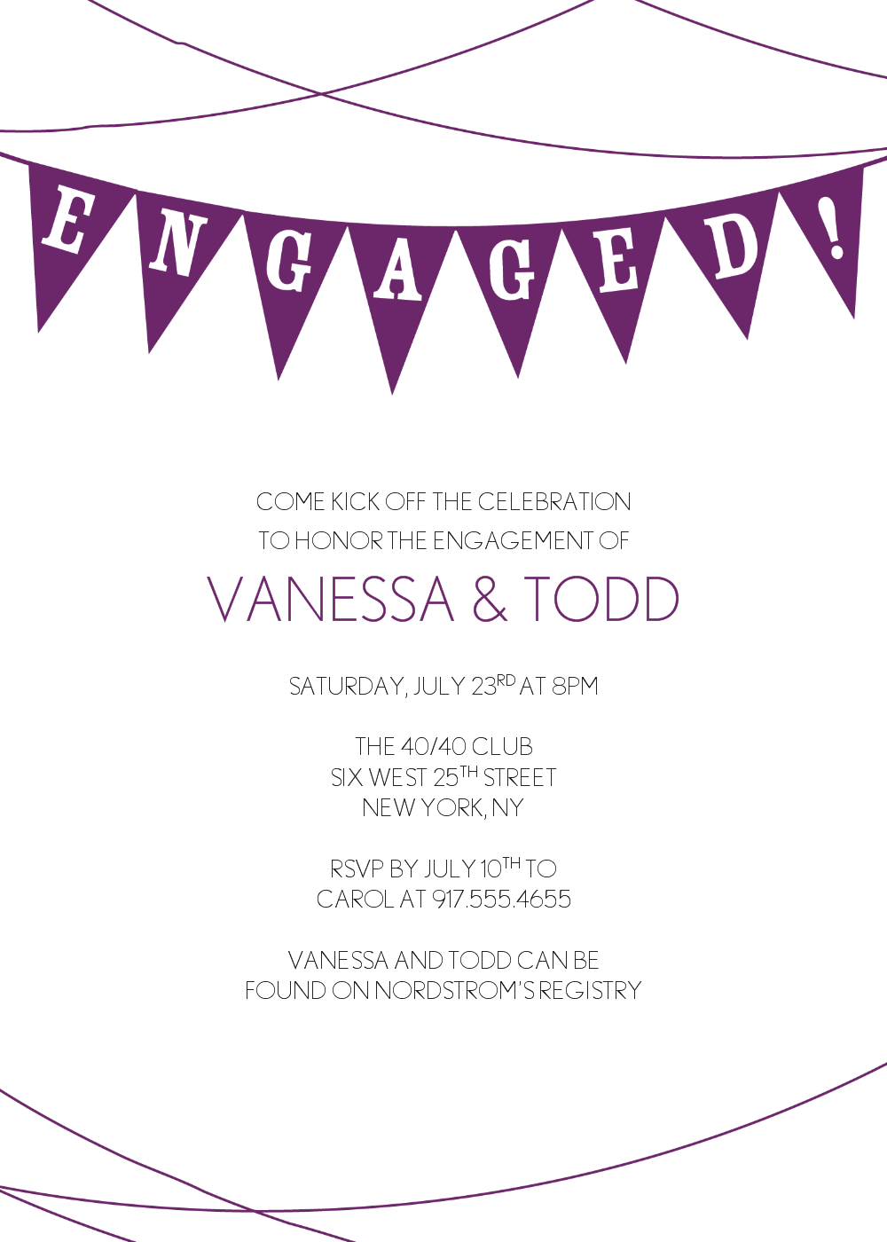 Engagement Party Invite Template