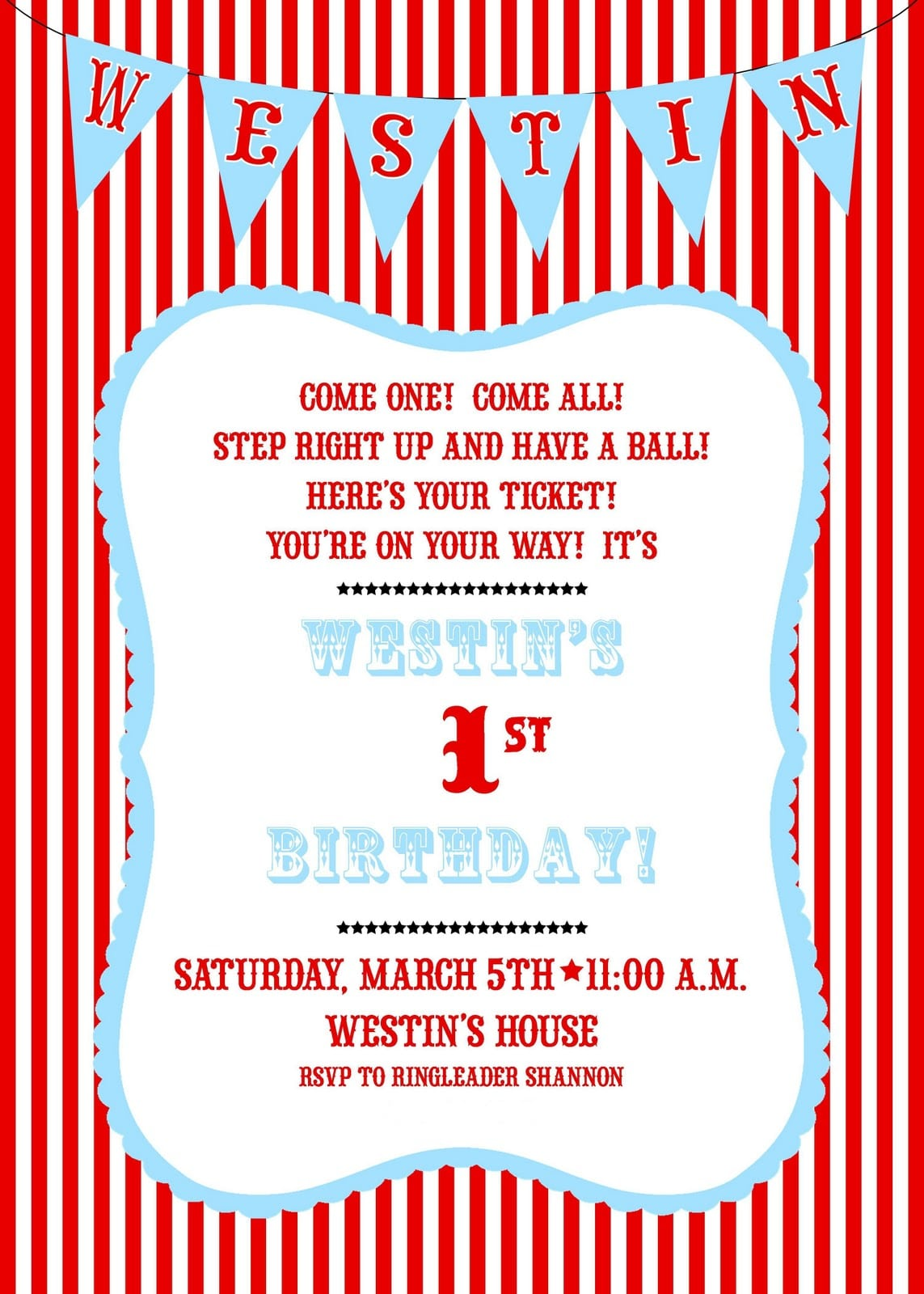 Carnival Party Invitation Wording