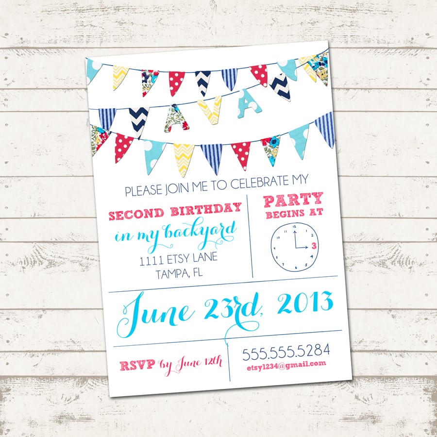 Etsy Birthday Invitations