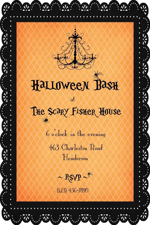 Etsy Friday  Halloween Party Invitations