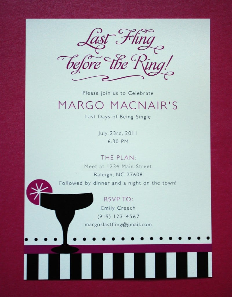 Example Bachelorette Party Invitations