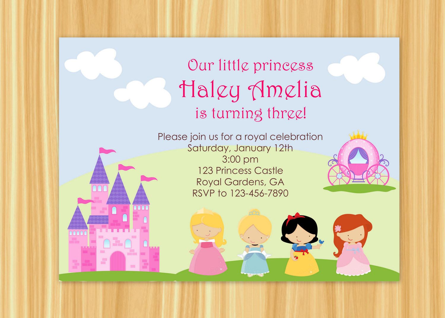 Fairy Dress Up Party Invitation Wording